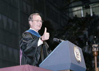 The Long History Of Presidential Visits To Texas A&M's Campus