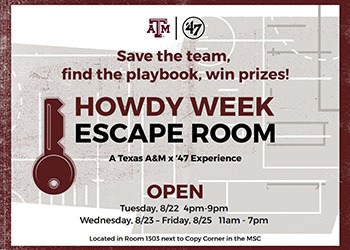 escape room flier