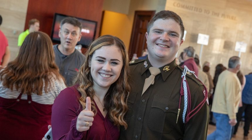 Hundreds of Texas A&M students gathered at the Clayton W. Williams, Jr. Alumni Center Nov. 2 to receive their Aggie Rings. (Mark Guerrero/Texas A&M Marketing & Communications)