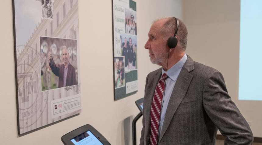 The StoryCorps at Texas A&M exhibit opened Tuesday with a reception at J. Wayne Stark Galleries.