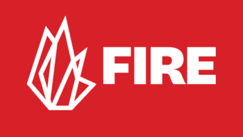 FIRE logo - red