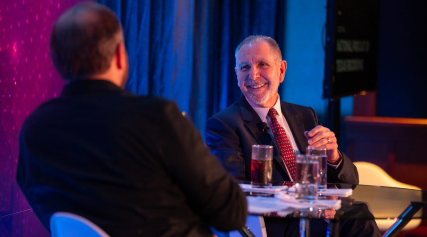Texas A&M University President Michael K. Young discusses the challenges and opportunities facing universities during a live taping of Texas Monthly's National Podcast of Texas at SXSW.