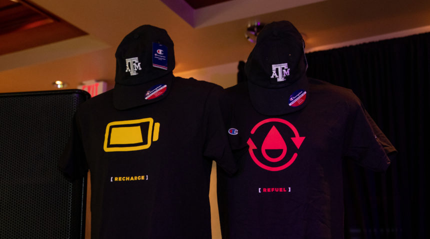 Texas A&M [Power] House guests had an opportunity to win exclusive Champion apparel.