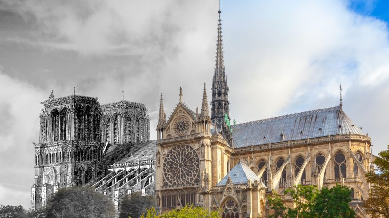 Notre Dame Cathedral through the years.