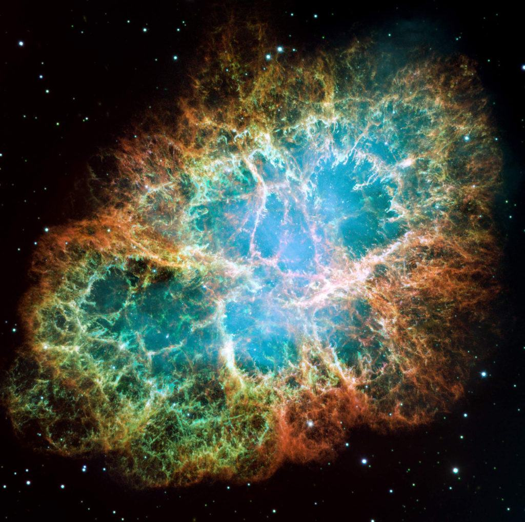 Image of a supernova explosion from the hubble telescope