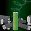 Graphic representation of metal-free, recyclable polypeptide battery