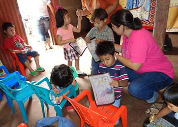 Former student with child with learning disabilities in Nicaragua