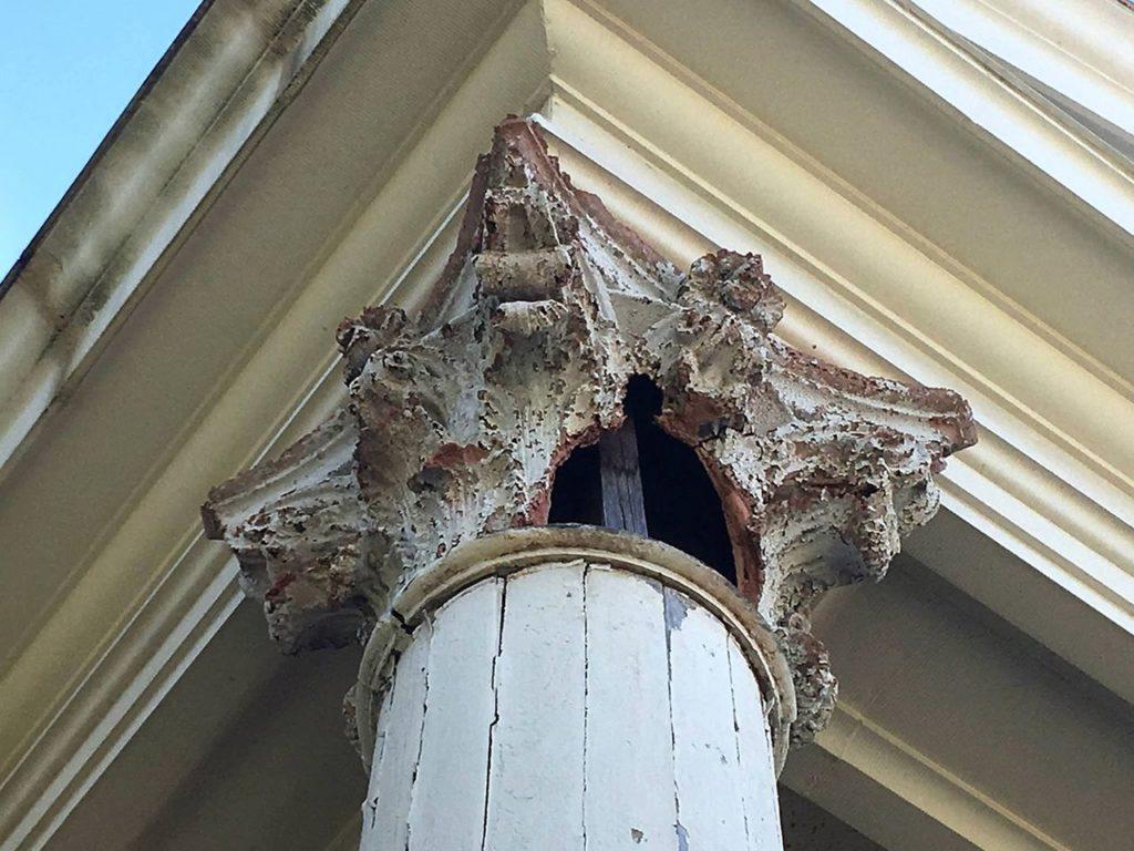 A Temple Freda Corinthian column.