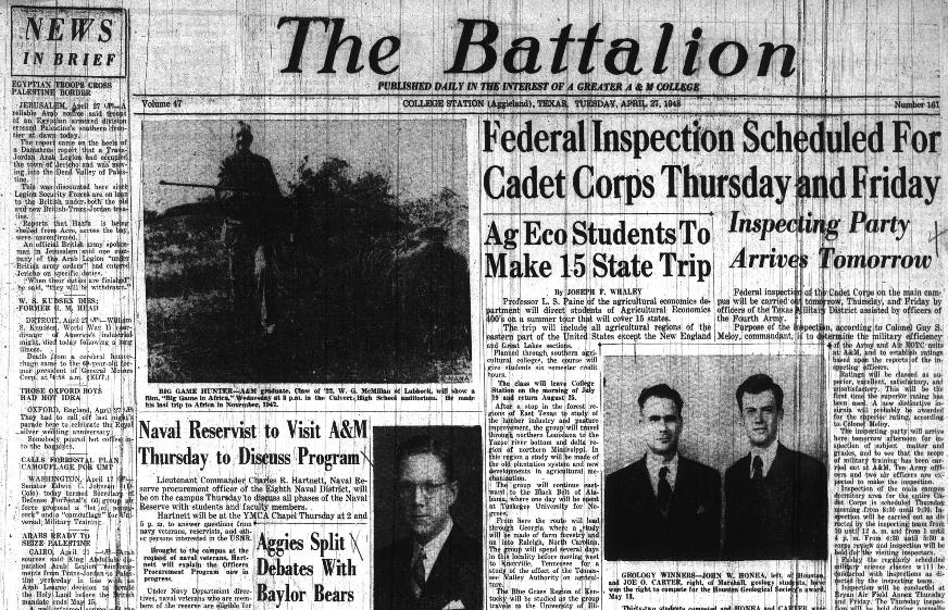 Battalion April 27, 1948.