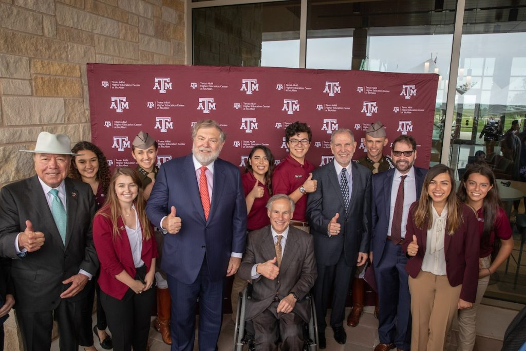 State leaders officially inaugurated Texas A&M University's Higher Education Center in McAllen Thursday. (Mark Guerrero/Texas A&M Marketing & Communications)