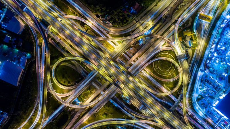Arial View of a Highway