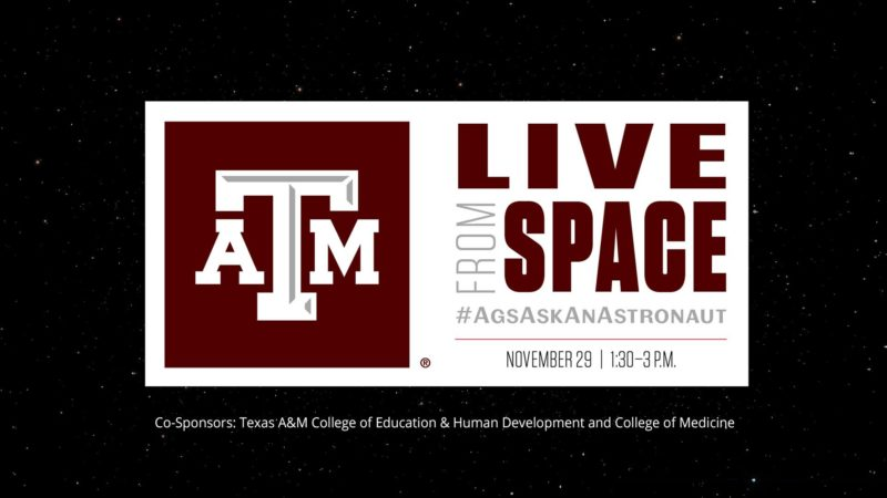 Live From Space #AgsAskAnAstronaut banner